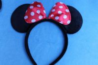 Red and White Minnie Mouse Ears